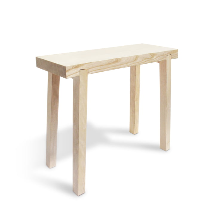 Stool stool from side by side made of ash wood