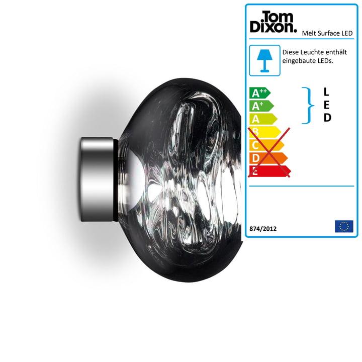Melt Mini Surface LED Ceiling Light by Tom Dixon in Chrome