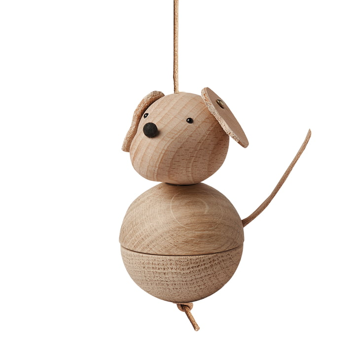 Wooden figure Leika dog by OYOY made of oak / beech