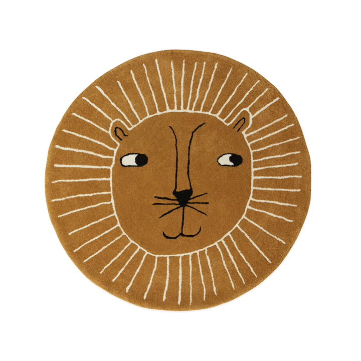 Children's carpet lion Ø 95 cm from OYOY