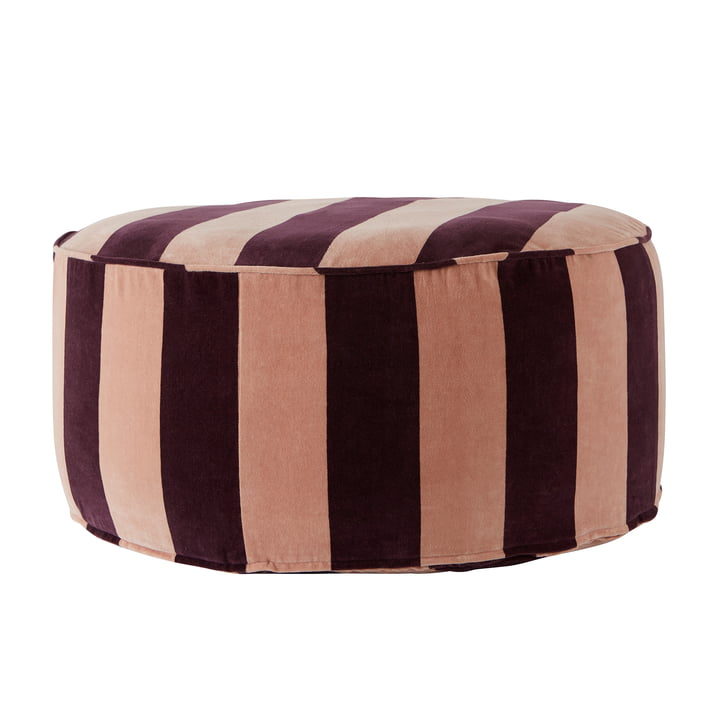 Confect Pouf Ø 75 x H 34 cm from OYOY in eggplant / rose