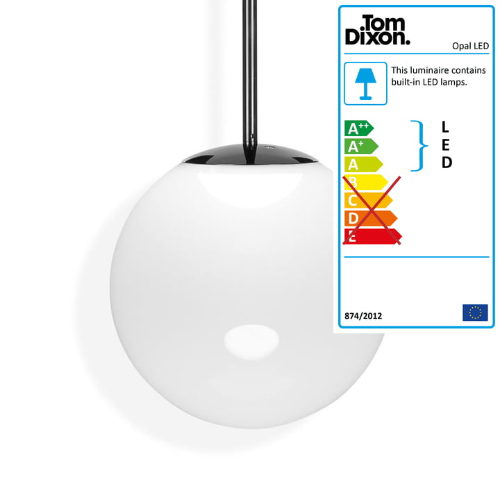 Opal LED pendant lamp Ø 50 cm by Tom Dixon