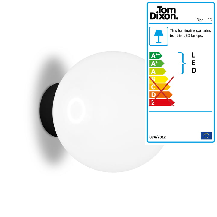 Opal LED wall and ceiling lamp Ø 25 cm by Tom Dixon