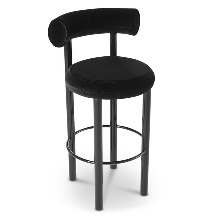 Fat bar stool by Tom Dixon in black