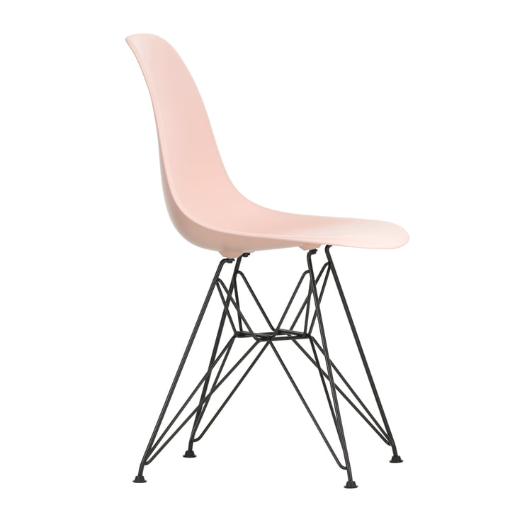Eames Plastic Side Chair DSR by Vitra in basic dark / soft pink