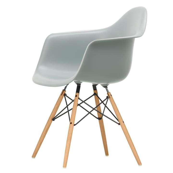 Eames Plastic Armchair DAW by Vitra in ash honey / light grey