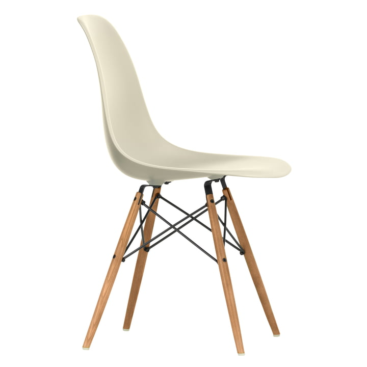 Eames Plastic Side Chair DSW by Vitra in ash honey / light grey