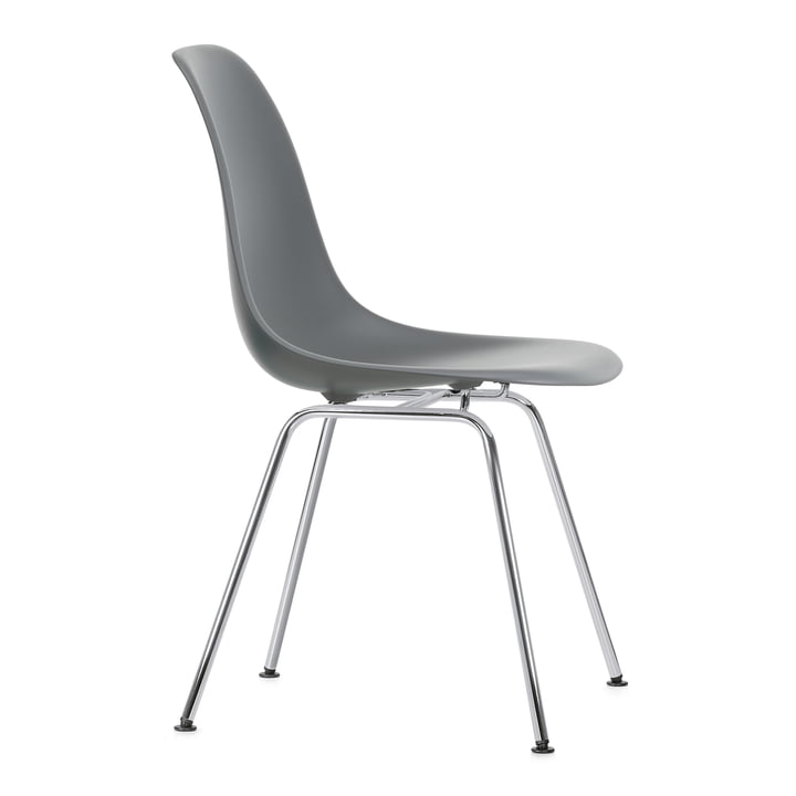 Eames Plastic Side Chair DSX by Vitra in chrome-plated / granite grey