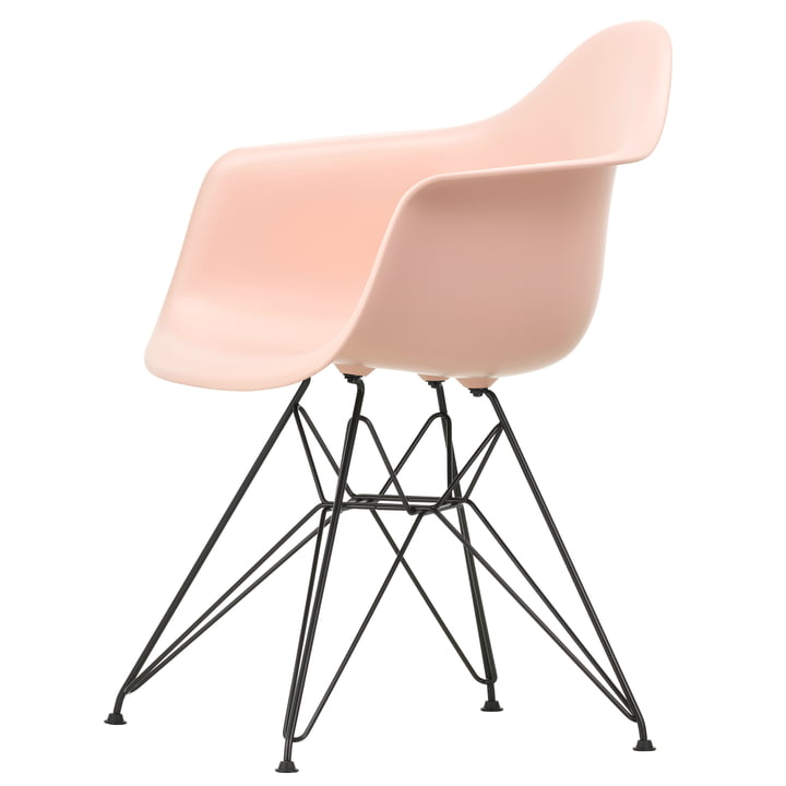 Eames Plastic Armchair DAR by Vitra in basic dark / soft pink