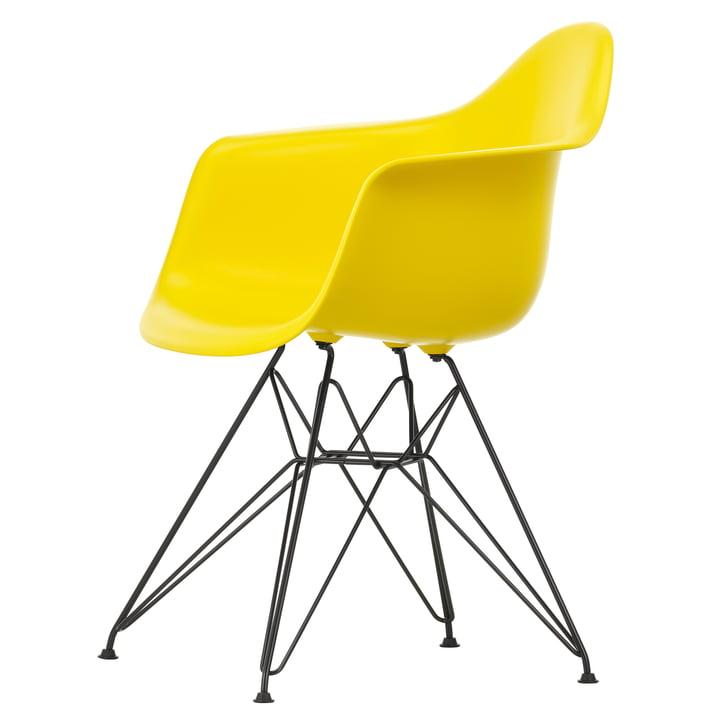 Eames Plastic Armchair DAR by Vitra in basic dark / sunlight