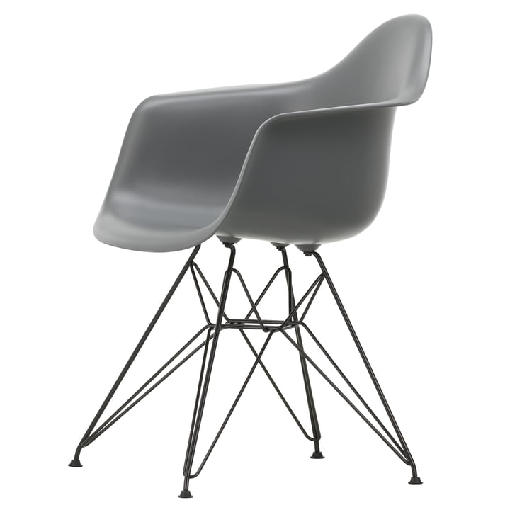 Eames Plastic Armchair DAR by Vitra in basic dark / granite grey