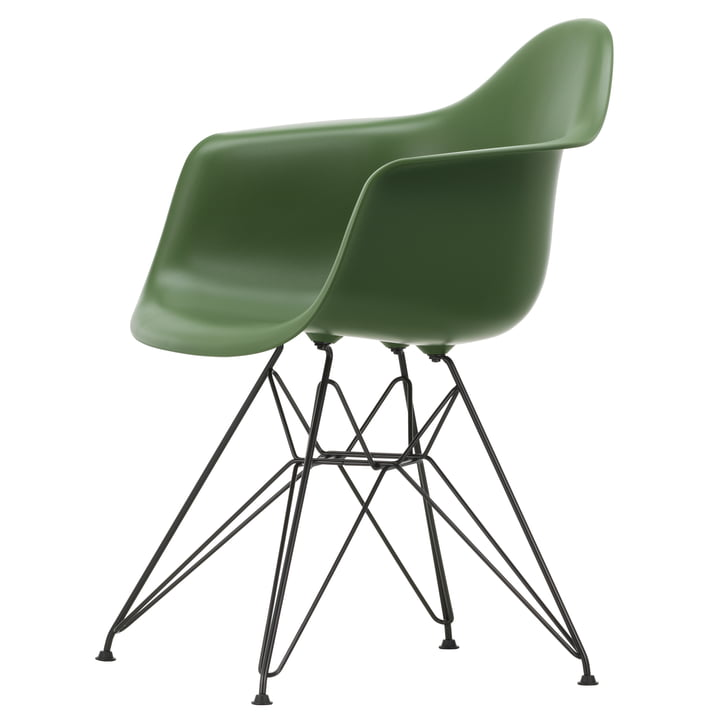Eames Plastic Armchair DAR by Vitra in basic dark / forest