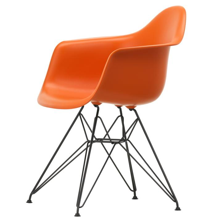 Eames Plastic Armchair DAR by Vitra in basic dark / rust-orange