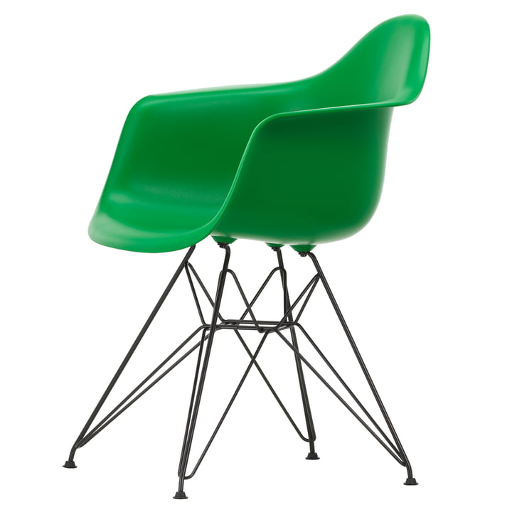Eames Plastic Armchair DAR from Vitra in basic dark / green