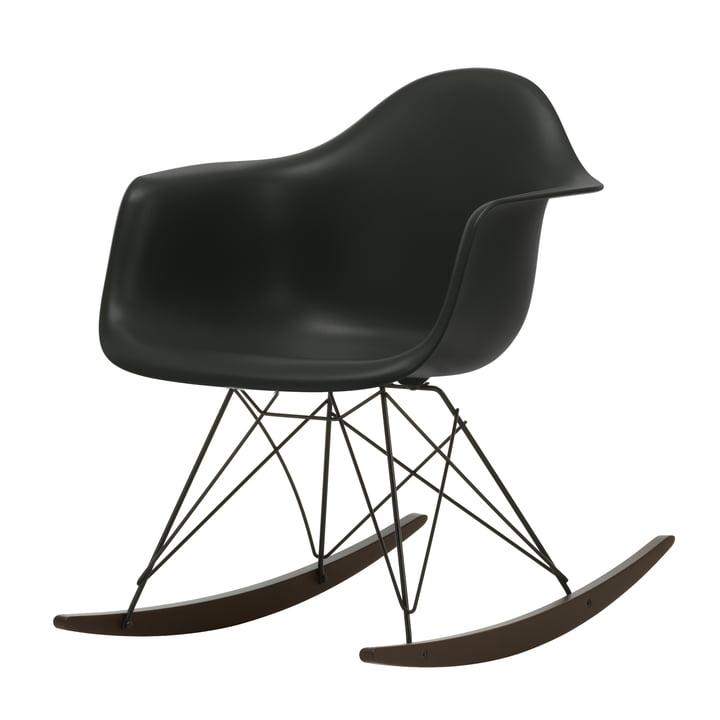 Eames Plastic Armchair RAR by Vitra in maple dark / basic dark / deep black