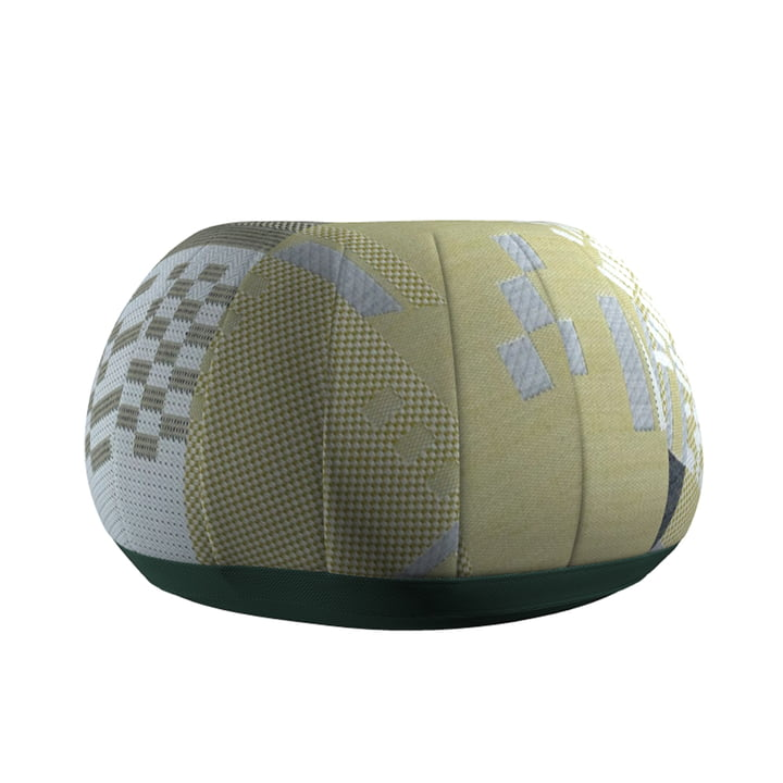 Bovist Pouf from Vitra in light greens