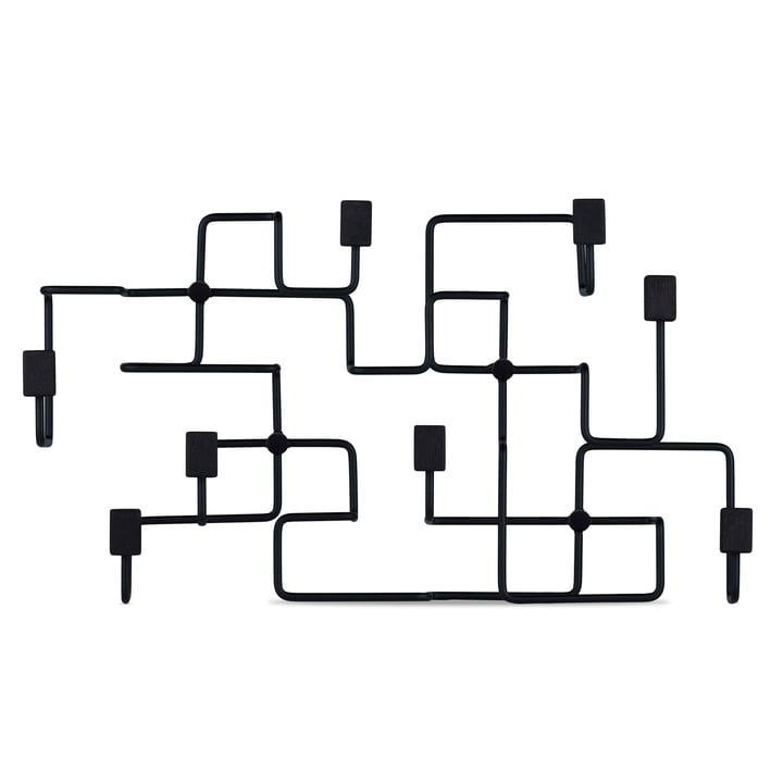 Underground wall wardrobe in black by Gejst