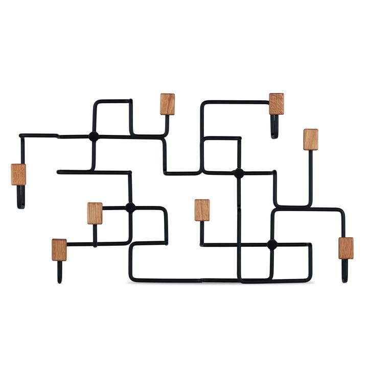 Underground wall wardrobe in oak / black by Gejst
