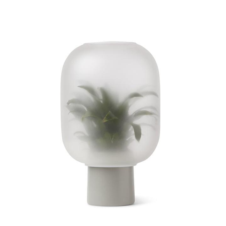 Nebl Vase large, Ø 24,5 x H 30 cm in grey by Gejst