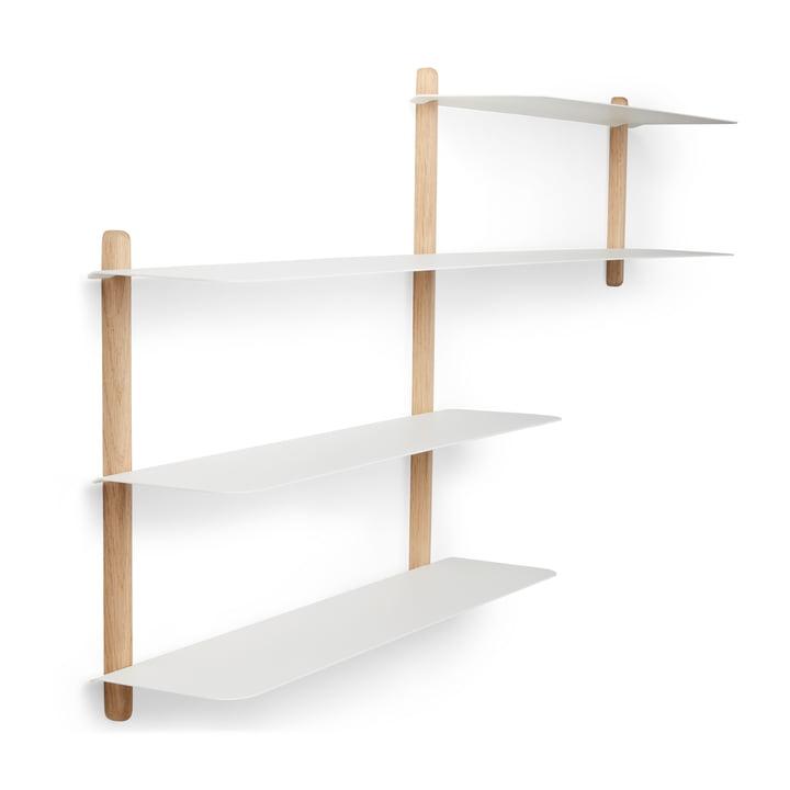Nivo wall shelf B light oak / white by Gejst
