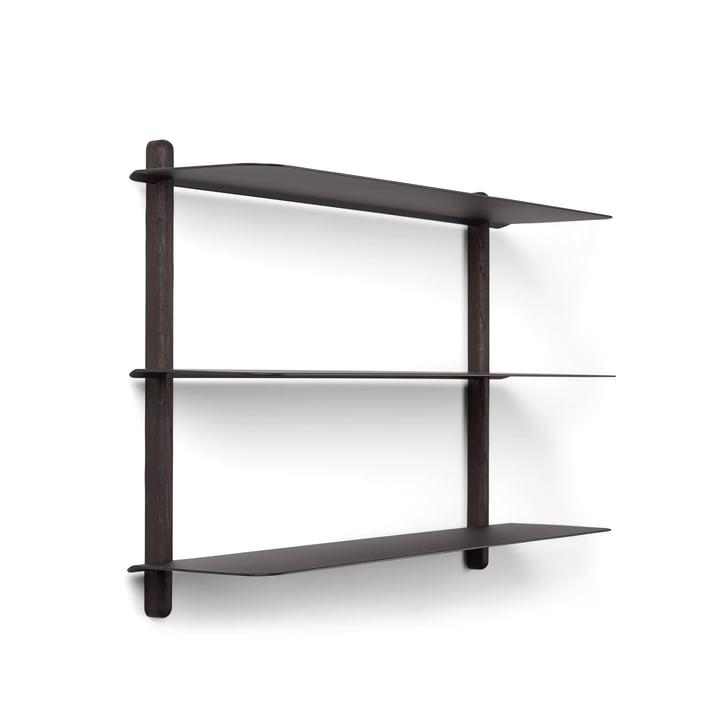 Nivo wall shelf A in black by Gejst