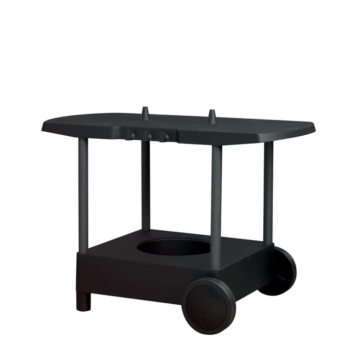 Tavolo table for Forno gas grill in anthracite grey by Morsø