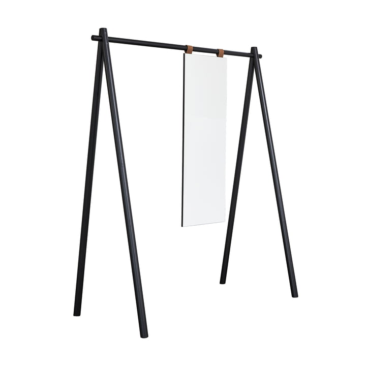 Hongi wardrobe with mirror in black by Karup Design