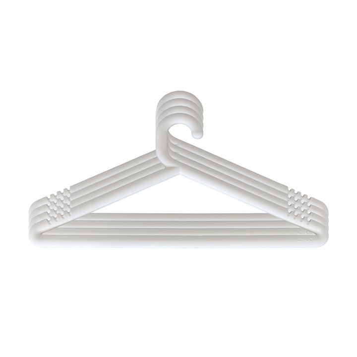 Hongi coat hanger in white (set of 4) by Karup