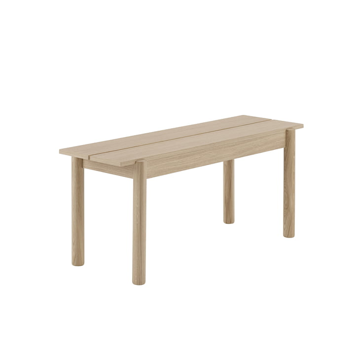 Linear Wood bench 110 x 34 cm in oak by Muuto