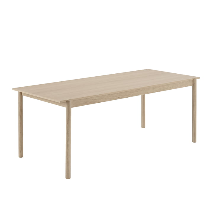Linear Wood dining table 200 x 90 cm in oak by Muuto