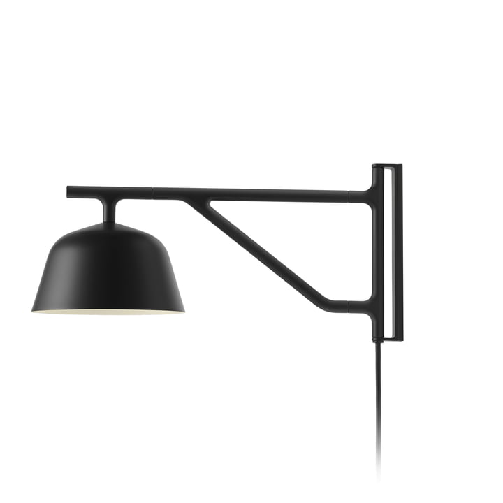 Ambit wall lamp in black by Muuto