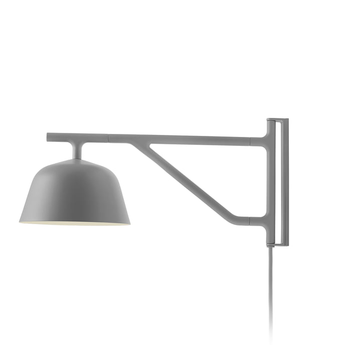 Ambit wall lamp in grey by Muuto