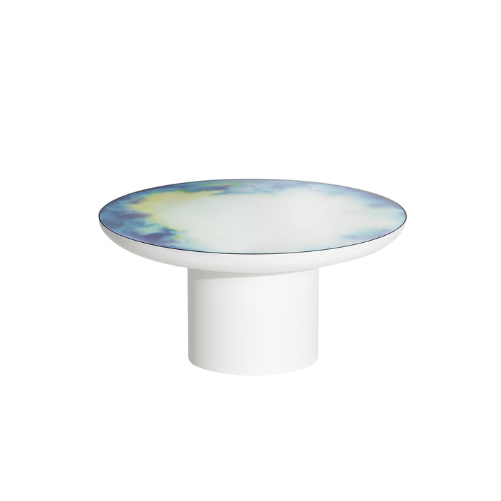 Francis coffee table Ø 75 x H 36 cm from Petite Friture in white / blue and yellow