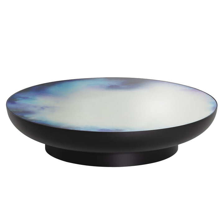Francis coffee table Ø 110 x H 24 cm from Petite Friture in black / blue and purple