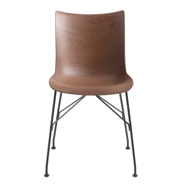 P/Wood chair by Kartell in black / dark