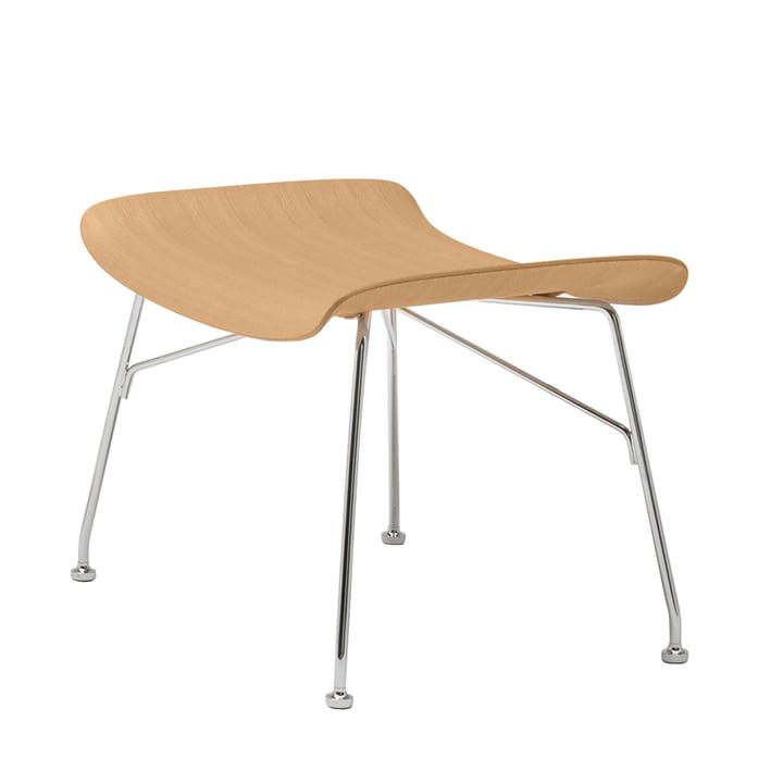 S/Wood stool from Kartell in chrome / light