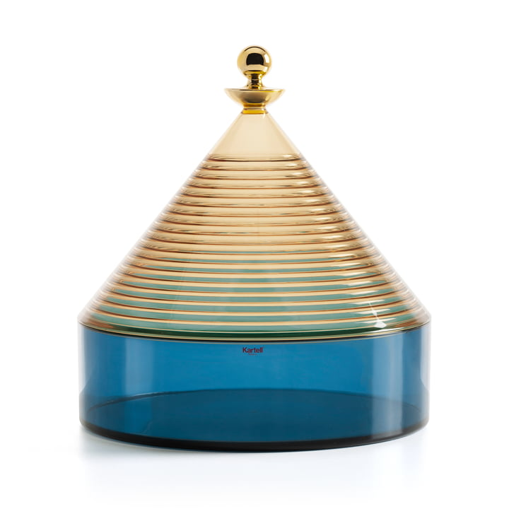 Trullo storage case from Kartell in yellow / blue