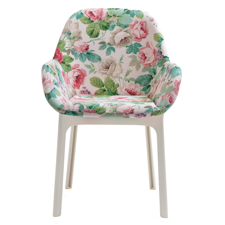 Clap chair 4184 by Kartell in white / chelsea