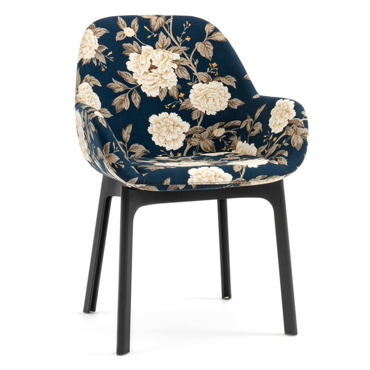 Clap chair 4184 by Kartell in grey / peony