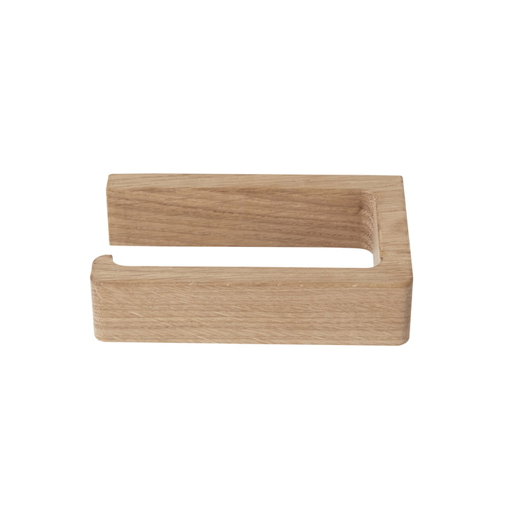 Oak toilet paper holder from Andersen Furniture