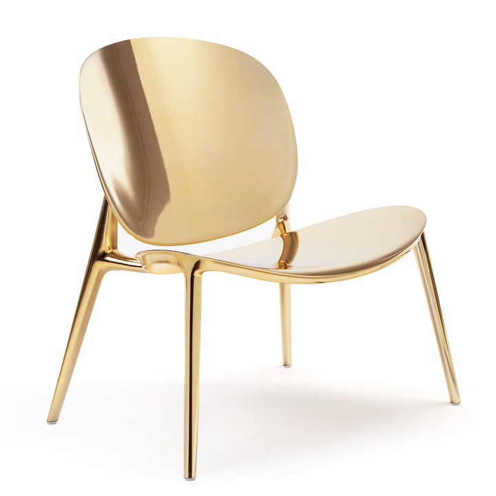 Be Bop armchair from Kartell in gold metallic