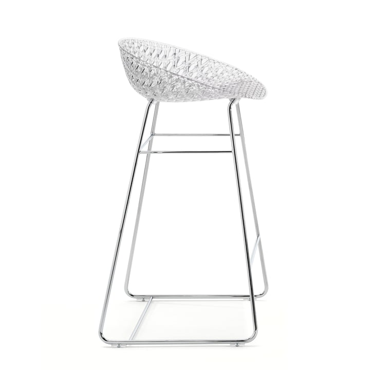 Smatrik Bar Chair from Kartell in chrome / crystal