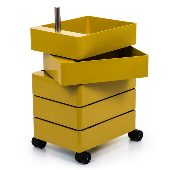 360° container 5 compartments in yellow by Magis