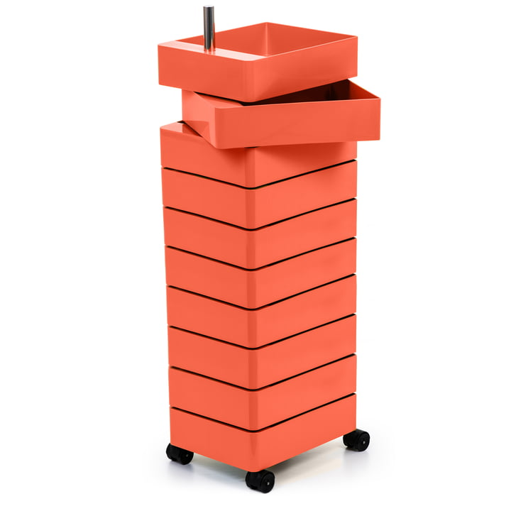 360° container 10 compartments in pink by Magis