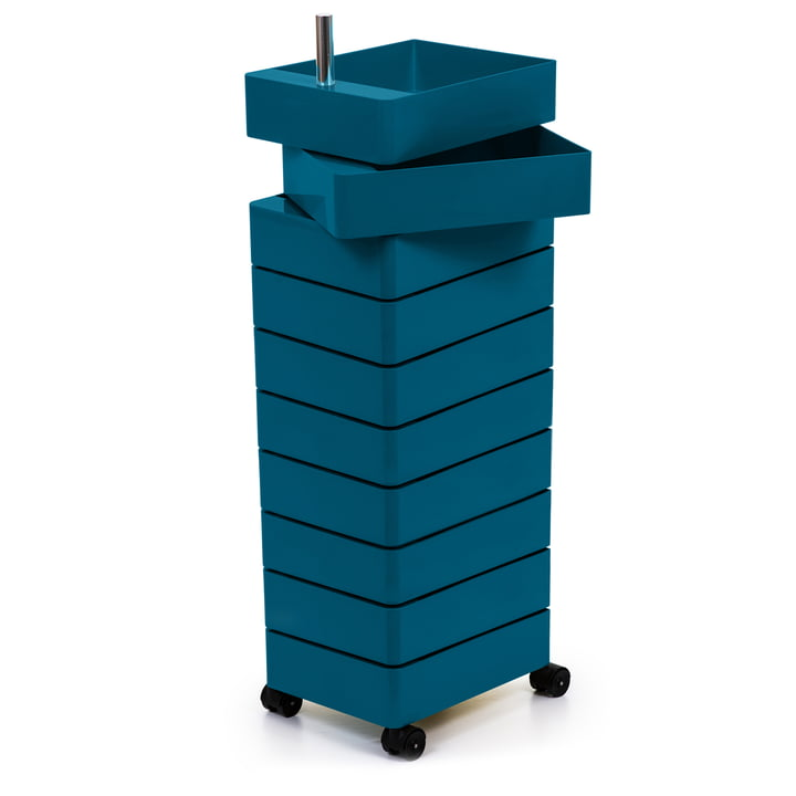 360° container 10 compartments in blue by Magis