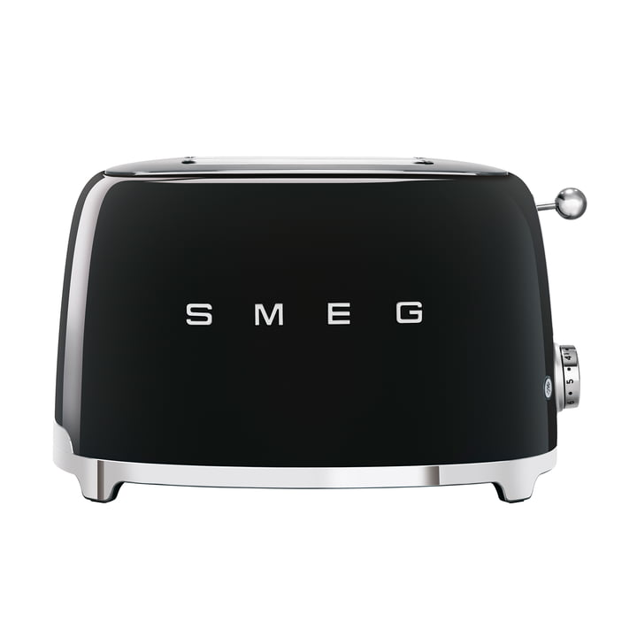 2-Discs Toaster TSF01 in black by Smeg