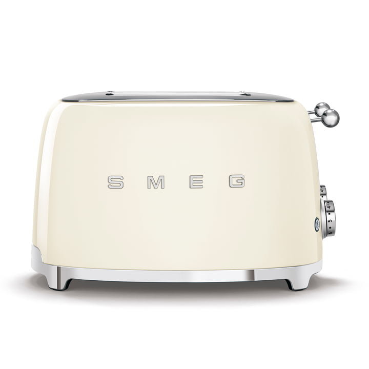 4-Slices Toaster TSF03 in cream by Smeg
