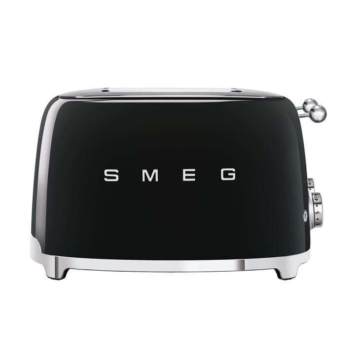 4-Discs Toaster TSF03 in black by Smeg