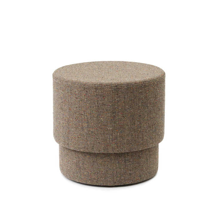 Silo Pouf small, Ø 50 x H 46 cm in Earth Confetti / Bolgheri 7 by Normann Copenhagen