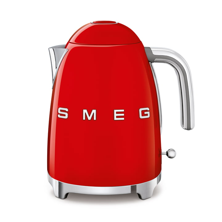 Kettle 1,7 l (KLF03) in red by Smeg